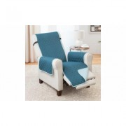 Odash Reversible Furniture Protector for Chair, Recliner, Loveseat, or Sofa Jade/Teal Recliner & Sofa Blue