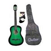 "38"" Inch Student Beginners GREEN Acoustic Guitar with Carrying Case & Accessories & DirectlyCheap(TM"
