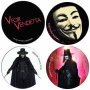 V for Vendetta buttons (set B)