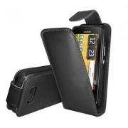 Nokia 700 Flip Калъф Черен + Протектор
