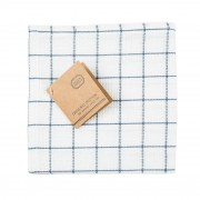 Dille&Kamille Lavette, coton bio,à carreaux bleus