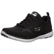 Skechers Flex Appeal 3.0-go Zapatillas para Mujer, BKW, 5.5 Wide