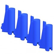 Set of 4 Blue Mid Piece Ring Corner Posts for Figures Toy Company Wrestling Action Figure Ring