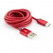 Кабел SBOX, от USB A(м) към USB C(м), 1.5m, червен