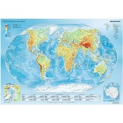 Puzzle Trefl - Physical Map of the World 1000 piese