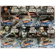 Hw 2 Pack - Star Wars Hot Wheels Vehicles. You Get Different Random Cars. per Set. Jango, Scarif Stormtrooper, K-2So, Jyn Erso, General Grievous.
