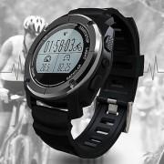 GPS Outdoor Digital Running Smart Sports Watch Heart Rate Monitor Water Resistant Pedometer Speed Calorie Counter Digital Wristwatch Y5440B Black