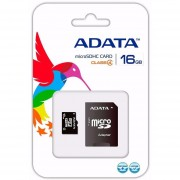 Memoria MicroSD SDHC Adata 16 GB C/Adaptador Clase 4 AUSDH16GCL4-RA1