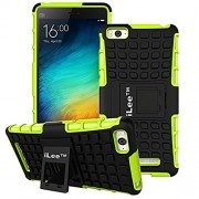 iLee Premium Kickstand Hybrid Back Cover for Xiaomi Mi 4i - Color: Green (12 Months Warranty)