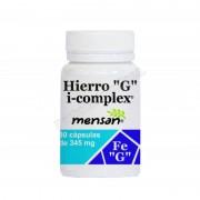 Mensan Hierro g i-complex 30 cápsulas vegetales de 345mg. mensan - vitaminas y minerales