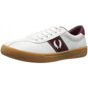 Fred Perry Men s Sports Authentic Tennis Shoe Fashion Sneaker Snow White/Snow White/Port 9 F(M) UK / 10 D(M) US