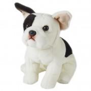 Geen Pluche zittende Franse Bulldog hond 23 cm