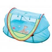 Cort joaca pentru copii Nomade Ludi, poliester, protectie UV50, 112 x 77 x 49 cm, maxim 9 kg, 0 luni+, model girafa Sophie