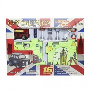Buzz Retail Puzzle Car Bus Track Set, Multi Color
