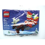 LEGO Santa and reindeer set / LEGO Santa with Sleigh Building Set 40010