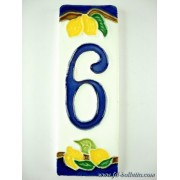 Numero civico ceramica con limoni nl6