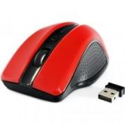 Мишка Gembird MUSW-101-R, оптична(1200 dpi), безжична, червена