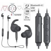 auvisio Stereo-In-Ear-Headset, Bluetooth, aptX, Geräusch-Unterdrückung 25 dB
