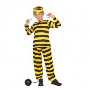 Daltons boevenpak zwart geel kids