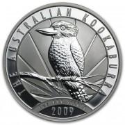 Kookaburra Stříbrná mince 1 AUD Australian Ledňáček 1 Oz 2009