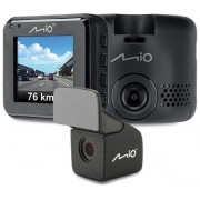 "Camera video auto Mio MiVue C380 Dual, Full HD, Ecran 2"", GPS + Camera spate (Negru)"
