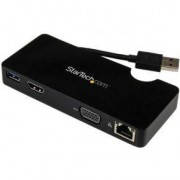 StarTech.com Universeel USB 3.0 mini docking station voor laptops met HDMI of VGA, gigabit Ethernet,