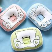 Duola Bear Pillow Newborn Infant Baby Prevent Flat Head Soft Anti-roll