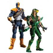 DC Collectibles Injustice Deathstroke VS Green Arrow Action Figure, Multicolor (2-Pack)
