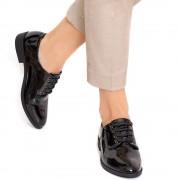Pantofi dama Myle cu siret, Negru 37