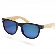 Paul Riley Eisblaue Bambusholz Sonnenbrille