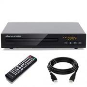 atune analog atune Reproductor de DVD analógico HDMI CD con HD 1080p, última intervensión de región, Entrada USB, Control Remoto, visualización multiángulo, Fuente de alimentación AC/DC, Negro (TDD-171B)