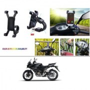 AutoStark Motorcycle Mount Cell Phone Holder/Installed to Motorcycle Rearview mirror Phone Mount For Bajaj Pulsar AS 150