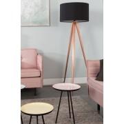 Zuiver Vloerlamp Tripod - H154 Cm - Koper - Zwarte Lampenkap