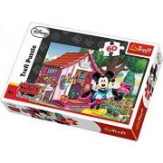 Puzzle Mickey si Minnie in gradina, 60 piese