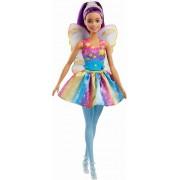 Papusa Barbie - Printesa zana cu parul mov