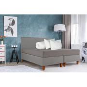 Set Bedora Dormitor Starter Gri 140x200 cm