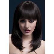 Fever Tanja Wig 19inch / 48cm Brown Coupe à plumes avec franges