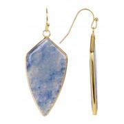 Panacea Blue Adventurine Short Arrow Drop Earrings BLUE