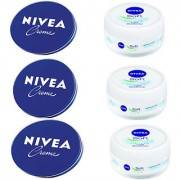 Nivea Cream of 60ml and Nivea Soft Of 50ml (pack of 3)