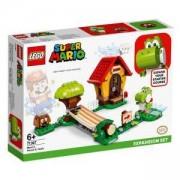 Конструктор Лего Супер Марио - Допълнение Marios House & Yoshi - LEGO Super Mario, 71367