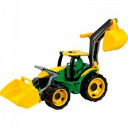 Lena - Traktor homlokrakodóval és markolóval 70 cm - Lena golyófuttató, pötyi, műanyag játékok