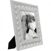 Porta-Retrato 1 Foto 10x15 cm Ornado Branco