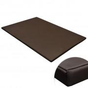 vidaXL Кучешка постелка, правоъгълна, кафява, XL
