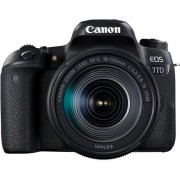 Aparat Foto DSLR Canon EOS 77D + Obiectiv EF-S 18-55mm IS USM, 24.2 MP, Full HD, Wi-Fi (Negru)