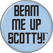 "Licensed Star Trek (Beam Me Up Scotty!) Original Tv Series/Show 1.25"" Button/Pinback B Day Party Gifts With Gift Box"
