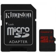 Карта памет Kingston, micro SDXC, 64GB, U3 с адаптер SD, KIN-SDCA3/64GB