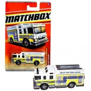 Mattel Year 2010 Matchbox MBX Emergency Response Series 1:64 Scale Die Cast Car #51 - Dallas Fort Worth Airport White Color HAZARD SQUAD Fire Truck (T8942)