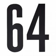 Geen Plakcijfers 64 zwart 10 cm