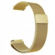 Curea tip Milanese Loop compatibila Sony Smartwatch 2 SW2 telescoape QR Auriu