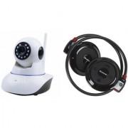 Mirza Wifi CCTV Camera and Mini 503 Bluetooth Headset for SAMSUNG GALAXY S 5 SPORT(Wifi CCTV Camera with night vision  Mini 503 Bluetooth Headset )